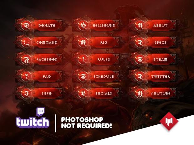 Twitch Panels | HellBound (x14) - Diablo 3