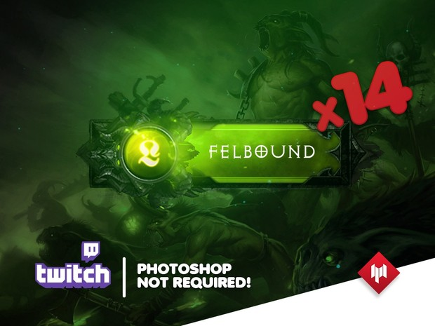 Twitch Panels | HellBound (x14) - GREEN