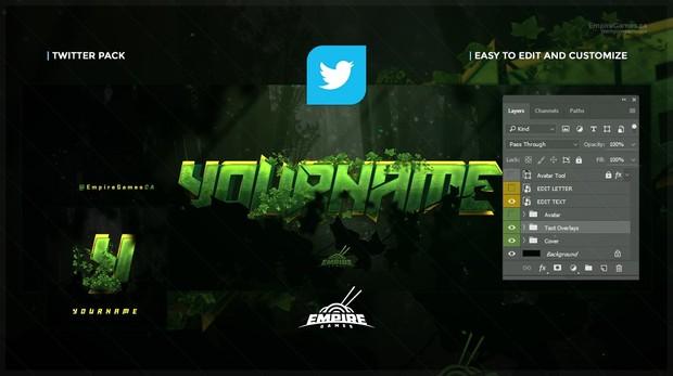 Twitter - Lunax (Cover/Avatar) PSD