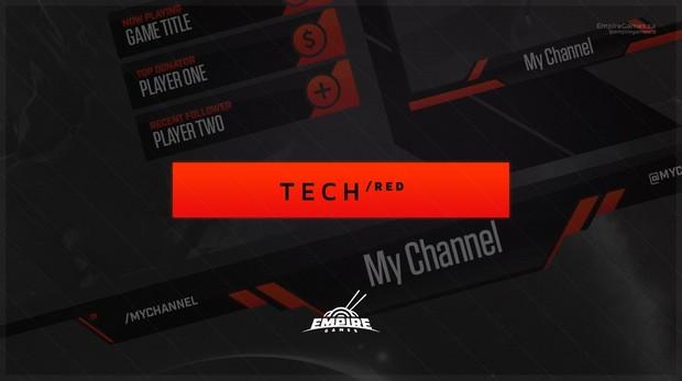 Stream Overlay | Tech Red - No Photoshop!