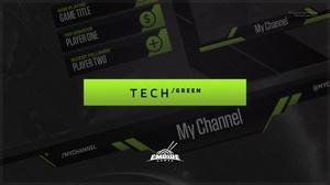 Stream Overlay | Tech Green - No Photoshop!