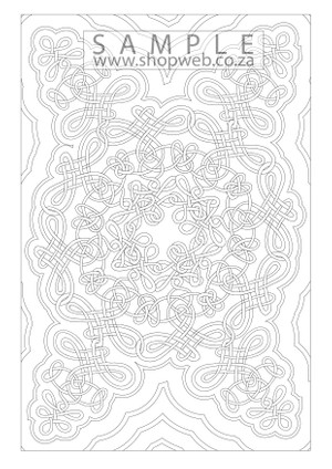 Perpetual ribbon colouring-in page