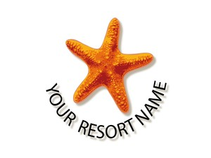 Star Fish logo stable for a resort