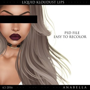 // kloudust liquid lip. PSD EASY TO MAKE YOUR OWN.