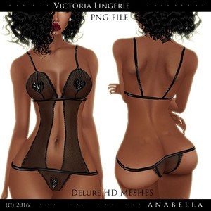Victoria Lingerie / PNG / HD DELURE MESHES