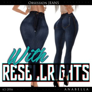 // WITH RESELLSRIGHTS HW obsession JEANS. sis3d meshes