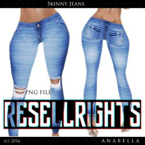 w/ RESELLS RIGHTS // skinny jeans .sis3d mesh