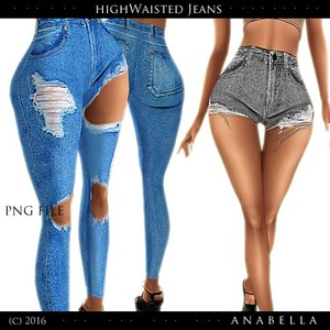 // HW Jeans 2 syles. sis3d meshes