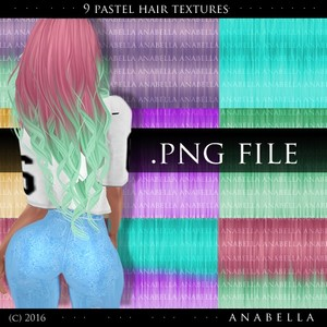 // 9 hair textures pastel SUPPORT FREEBIE :)