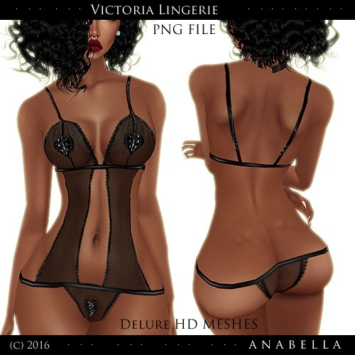 w/resells Victoria Lingerie / PNG / HD DELURE MESHES