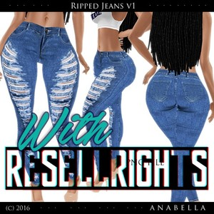 // With resells // Ripped Jeans vol.1 .sis3d meshes