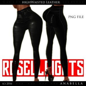 w/ RESELLS// HW Leather pants .sis3d