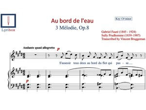 Au bord de l'eau sheet music - Buy / Download sheet music of Au bord de l'eau by Gabriel Fauré