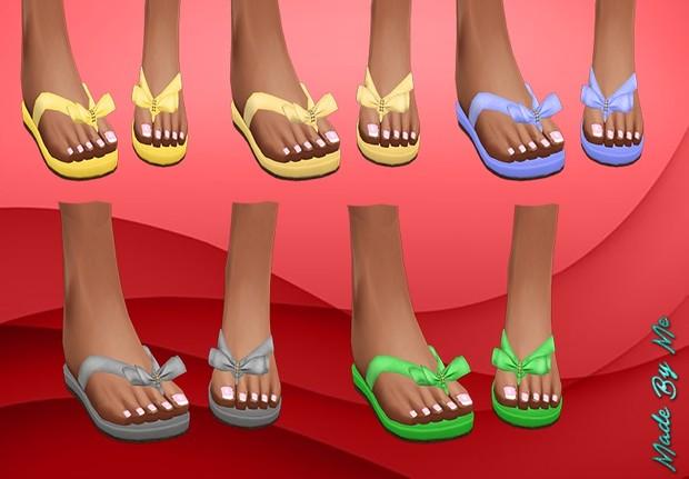 Pale Plain Coloured Sandals