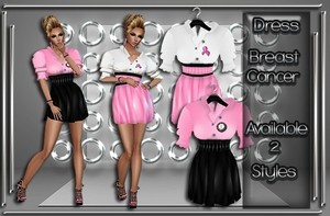 Breast Cancer Dress Set Catty Only!!!