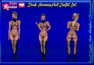 Dark Harness Full Outfit Set Catty Only!!!