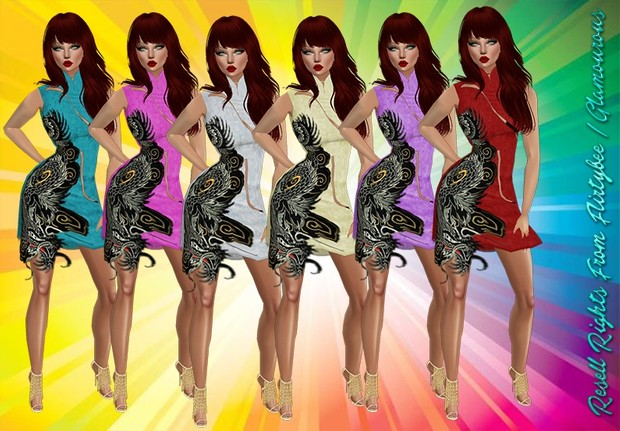 Dragon Lady Dresses Catty Only!!!