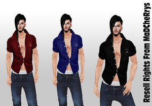 3 Open Shirts Mens Catty Only!!!!