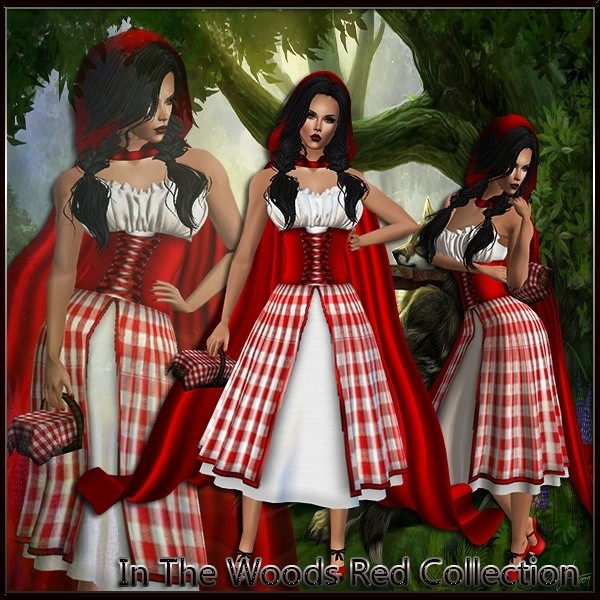 In The Woods Red Collection Catty Only!!!