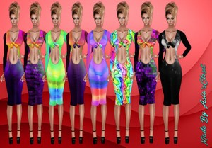 Kelia Splash Color Dresses