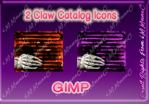 2 Claw Catalog Icons GIMP (Halloween)