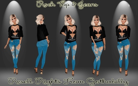 Rock Top & Jeans Catty Only!!!