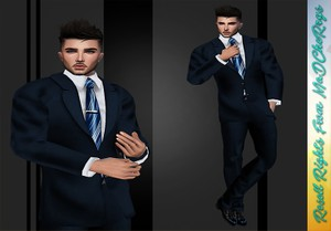 Wedding Suit Blue Catty Only!!!!