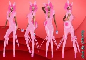 Easter Pink Latex Package Catty Only!!!