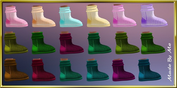 Winter Kids Boots Textures Resell Rights