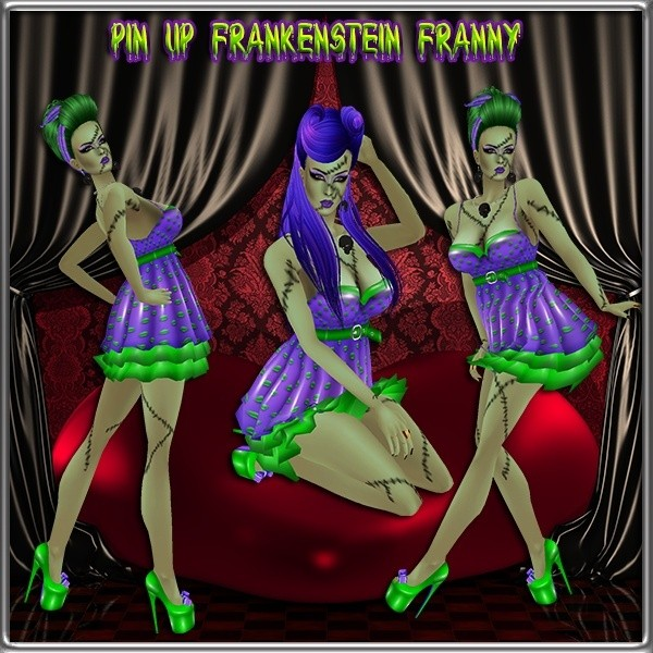 Pinup Frankenstein Franny Collection Master Resell Rights!!!! 0/6 People