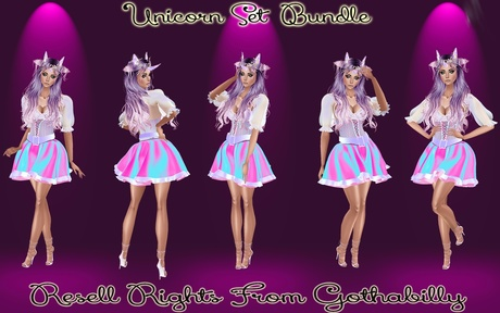 Unicorn Set Bundle Catty Only!!!