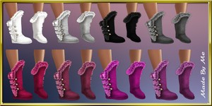 Fur Winter Boots Textures Resell Rights
