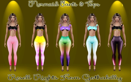 Mermaid Pants & Tops Catty Only!!!