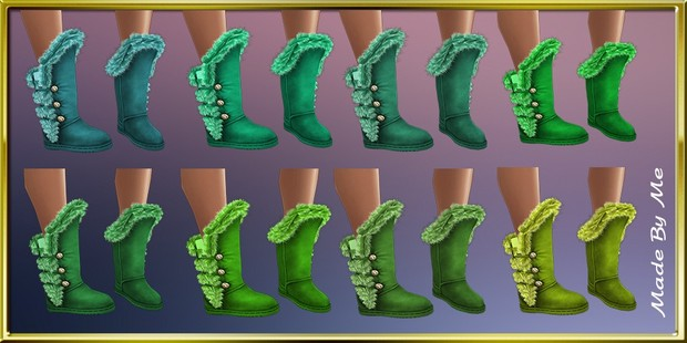 Fur Winter Boots Textures Catty Only!!!