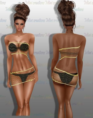 Dazzled Gold Outfit 1