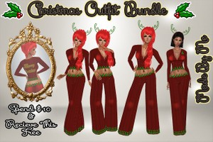 Christmas Outfit Bundle Catty Only!!! Free When You Spend $10 Or More In My Store