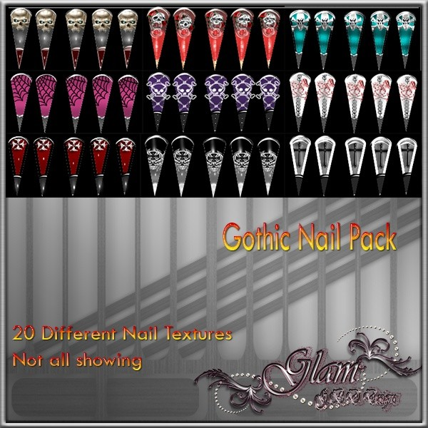 Gothic Nail Pack Catty Only!!!!