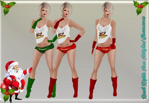 Santa Reindeer Collection Sleepwear Catty Only!!!!