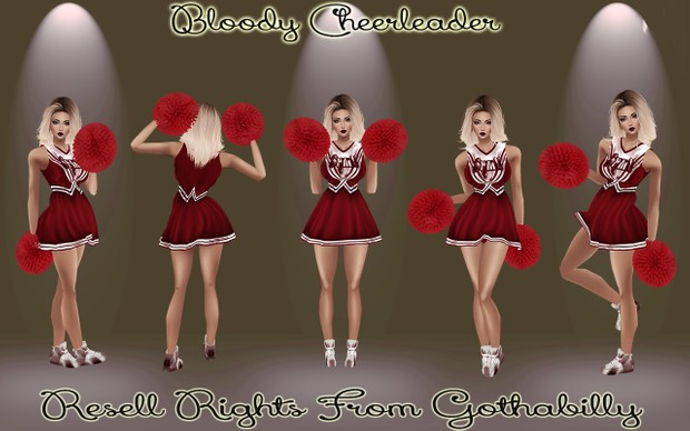 Bloody Cheerleader Catty Only!!!