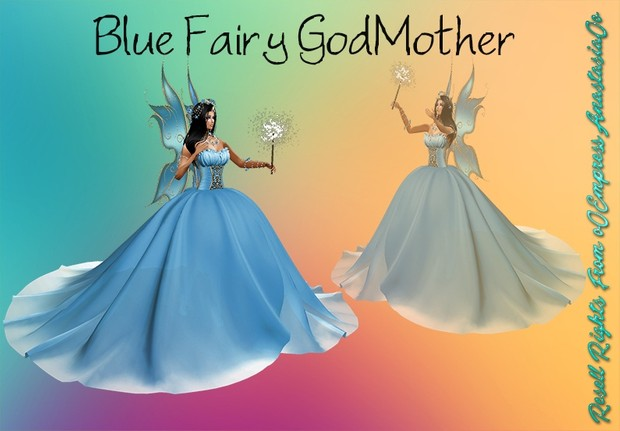Blue Fairy GodMother No Resell 0/3 People