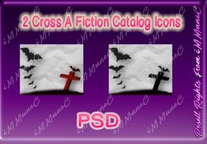 2 Cross A Fiction Catalog Icons PSD (Halloween)