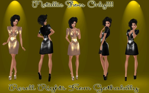 Metallic Shoes Only Catty Only!!!