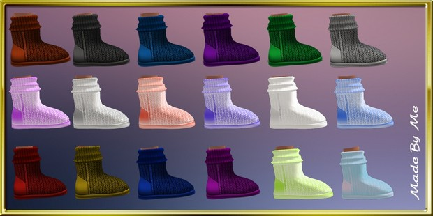 Winter Kids Boots Textures Catty Only!!!