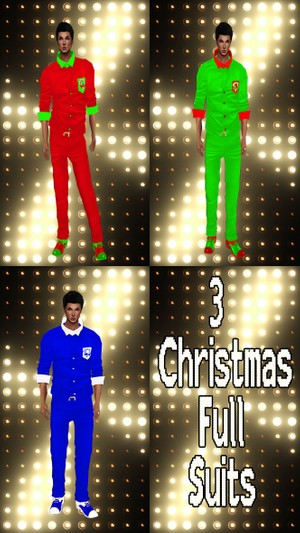 3 Christmas Full Suits Textures