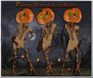 Creepy Pumpkin Jacklynn Limited Collection Resell Rights!!! 0/6 People