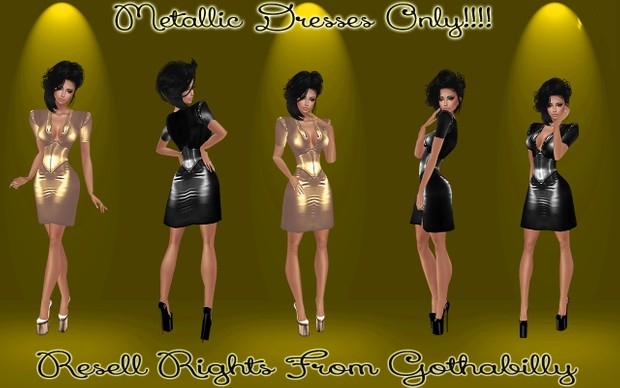 Metallic Dresses Only Catty Only!!!