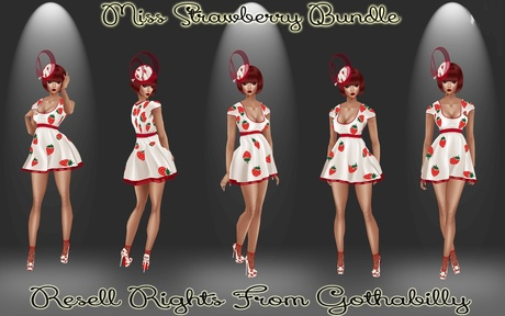 Miss Strawberry Bundle Catty Only!!!