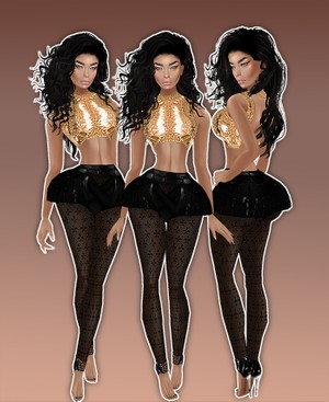 Nikki Minaj Gold Catty Only!!!!