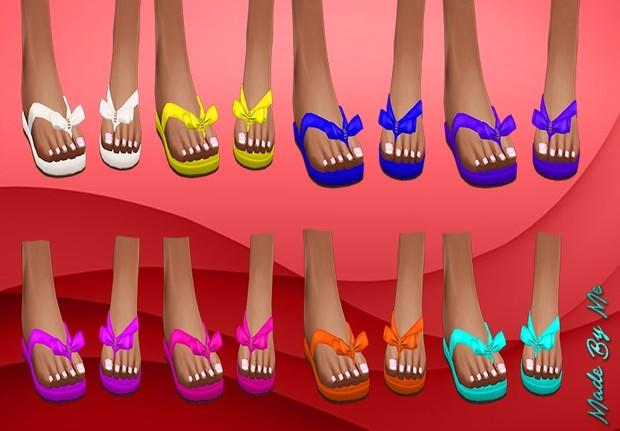 Vibrant Plain Coloured Sandals