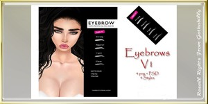 Thick Eyebrows 2 Versions Catty Only!!!!